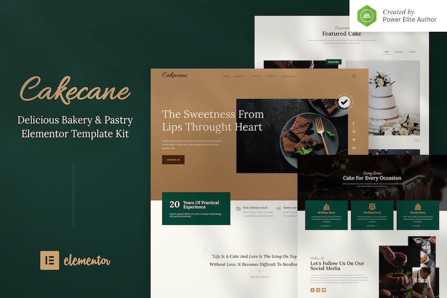 Cakecane - Gâteau & Pâtisserie Elementor Template Kit
