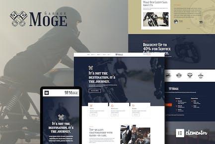 Moge - Motorcycle Repair & Service Elementor Template Kit