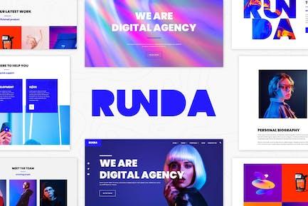 Runda - Kreativagentur Elementor Template Kit