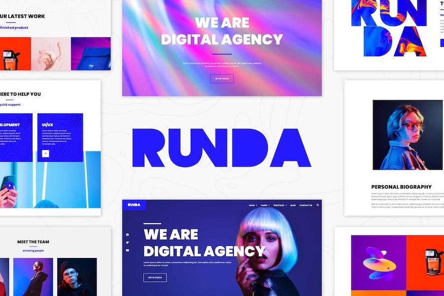 Runda - Creative Agency Elementor Template Kit