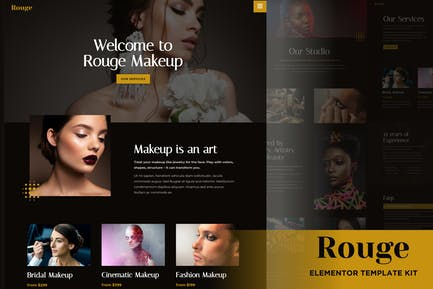 Rouge - Makeup & Beauty Elementor Template Kit
