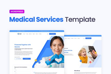 Vaxi – Covid-19 Vaccination & Health Services Elementor Template Kit