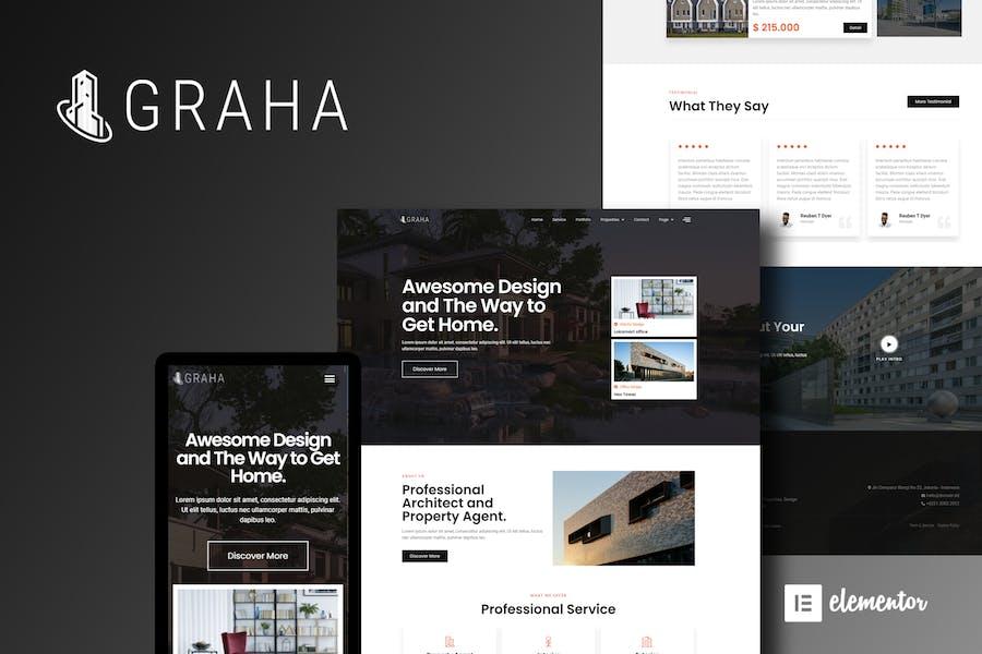 Graha - Template Kit élémentor immobilier