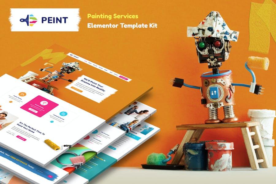 Peint — Template Kit Elementor de Servicios de Pintura