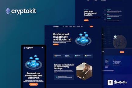 Cryptokit - Blockchain Cryptocurrency Elementor Template Kit