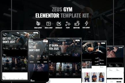 Zeus - Gym & Fitness Elementor Template Kit