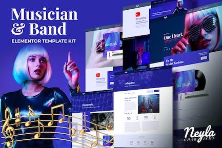 Neyla - Musician & Band Elementor Template Kit