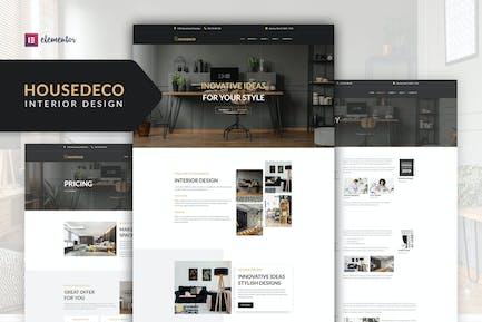 Housedeco - Template Kit Elementor de Diseño de Interiores