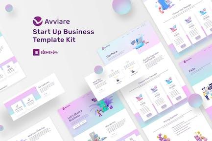 Avviare Start Up Business Elementor Template Kit
