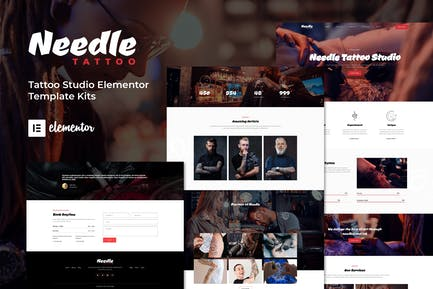 Nadel - Tattoo Studio Elementor Template Kit