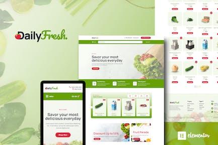 DailyFresh - Grocery Store Elementor Template Kit