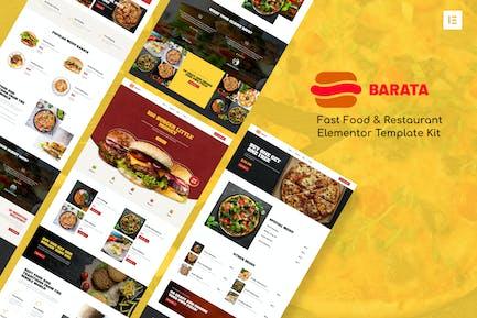 Barata - Fast Food & Burger Elementor Template Kit