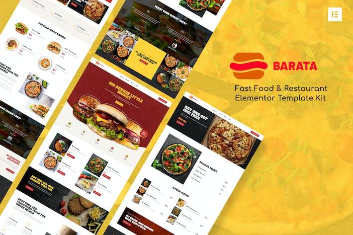 Barata - Fastfood & Burger Elementor Template Kit