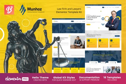 Munhoz - Anwaltskanzlei & Anwälte Elementor Template Kit