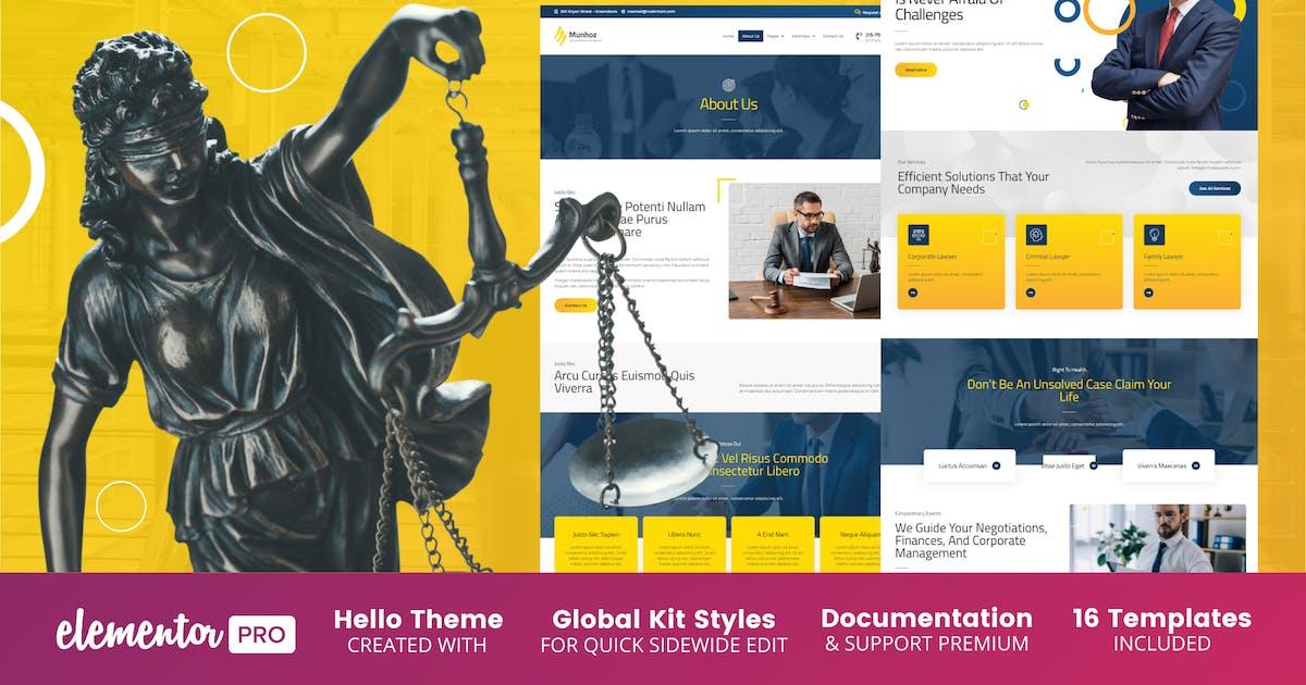 Download Munhoz - Law Firm & Attorneys Elementor Template Kit by BimberOnline