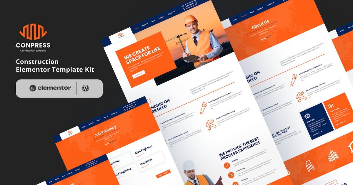 Download Conpress - Construction Service Elementor Template Kit by eztudio