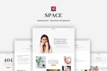 Space - Schönheitssalon Elementor Template Kit