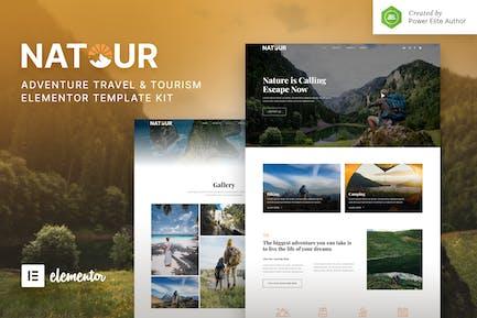 Natour — Elementor Template Kit für Abenteuerreisen und Tourismus