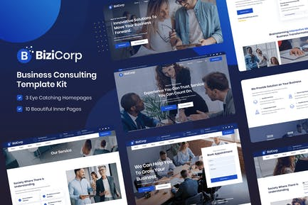 BiziCorp - Business Consulting Template Kit