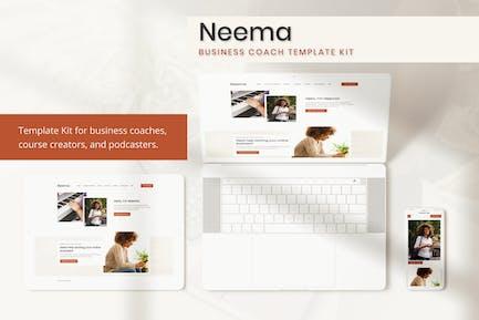 Neema - Business Coach Elementor Template Kit
