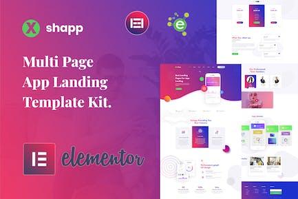 Xshapp - App Landing Elementor Template Kit