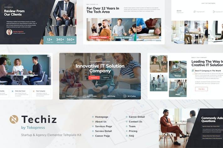 Techiz   Template Kit для начинающих и начинающих элементов