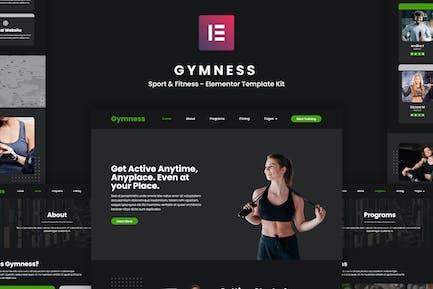 Gymness - Sport & Fitness Elementor Template Kit