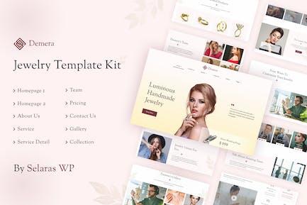 Demera | Template Kit de elementor de joyería
