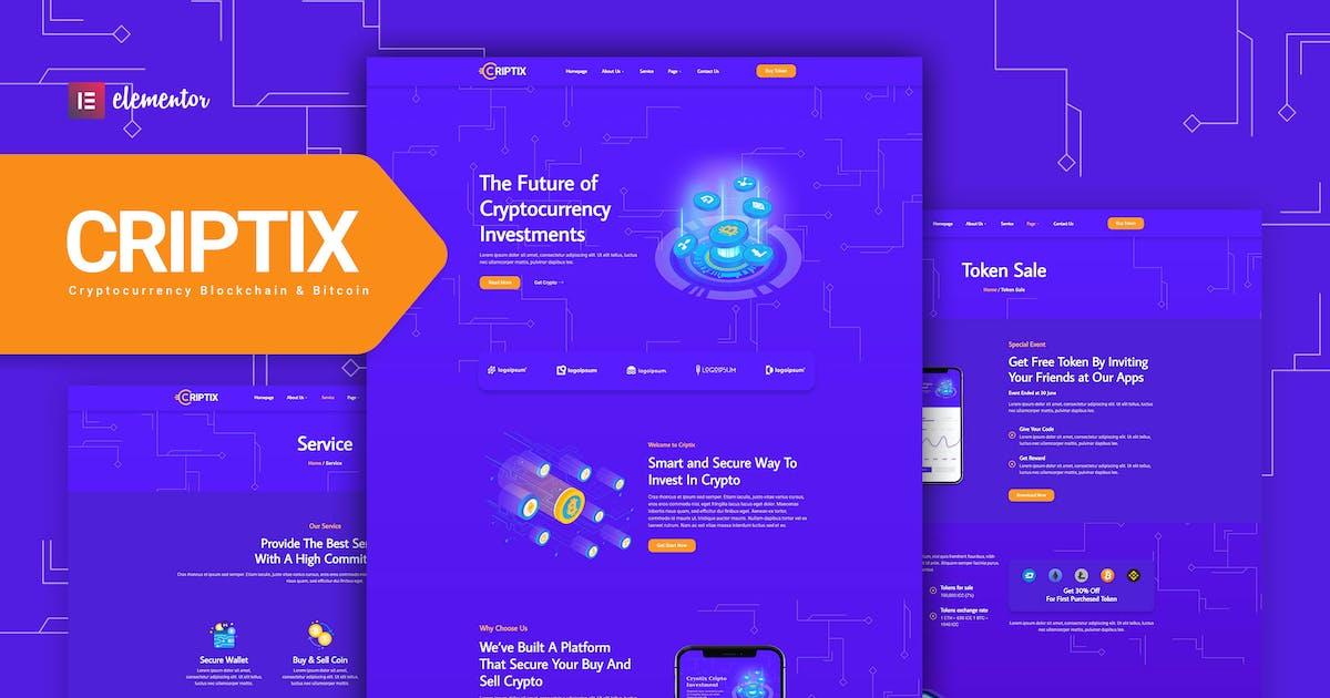 Download Criptix - Cryptocurrency Blockchain & Bitcoin Elementor Template Kit by Rometheme