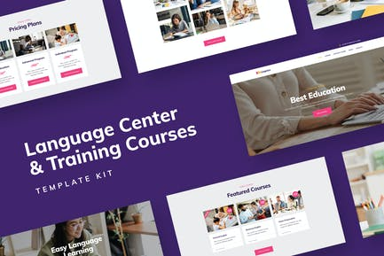 Educación a distancia - Template Kit para centros de idiomas y cursos de formación
