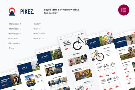 Pikez | Bicycle Store & Company Elementor Template Kit