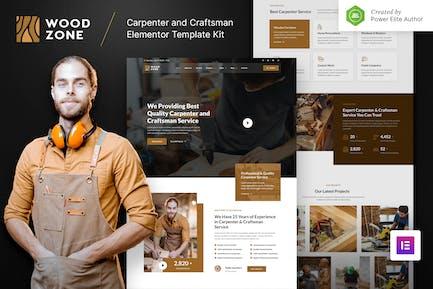 Woodzone – Carpenter & Craftsman Elementor Template Kit