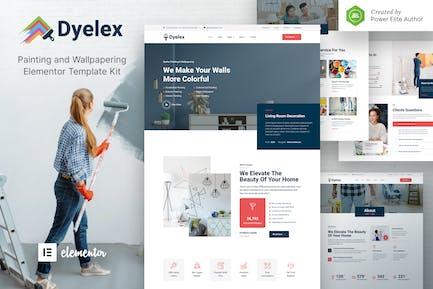 Dyelex — Malerei- und Tapezierservice Elementor Template Kit