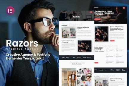 Razors - Creative Agency & Portfolio Elementor Template Kit
