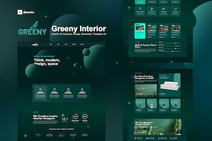 Greeny - Template Kit d'élémentor intérieur