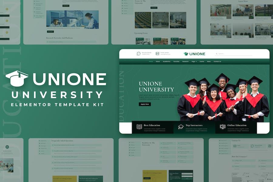 Unione - Template Kit de elementor universitario