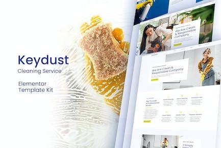 Keydust - Reinigungsdienst Elementor Template Kit