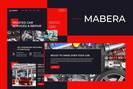 Mabera - Autovermietung und Reparatur Elementor Template Kit