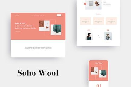 SohoWool - Handmade Craft Patterns Elementor Template Kit