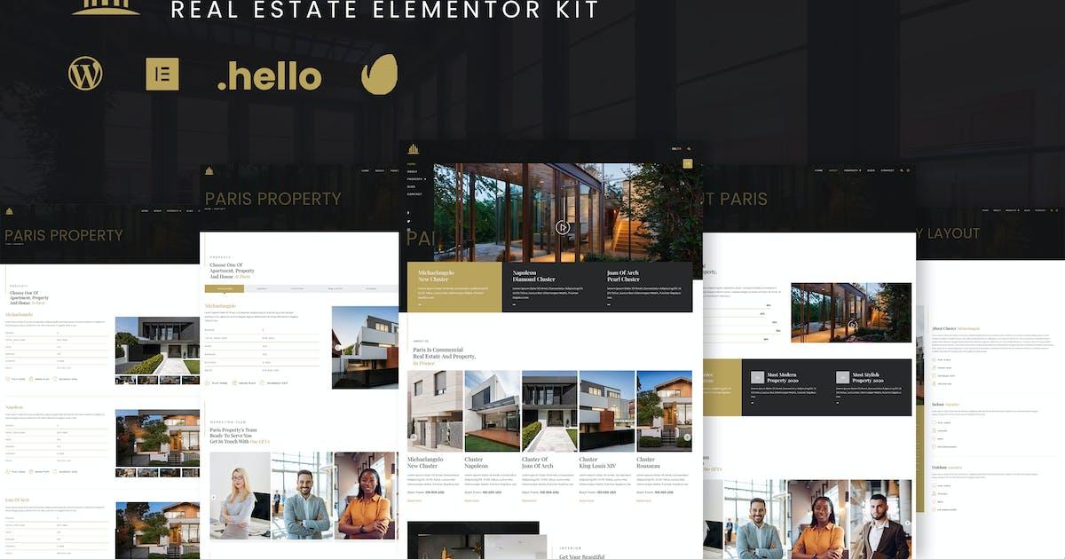 Download Paris - Real Estate Elementor Template Kit by RockboyStudio