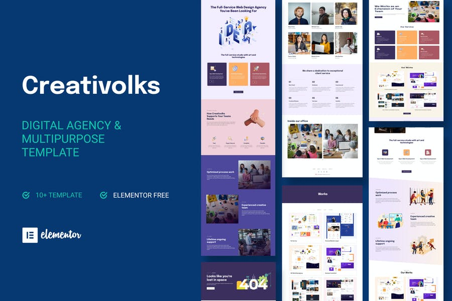 Creativolks - Creative & Business Agency Elementor Template Kit