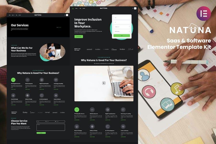 Natuna - Saas & Software Elementor Template Kit