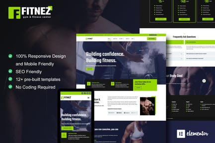 Fitnez - Fitness & Gym Elementor Template Kit