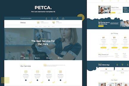 Petca - Pet Care Elementor Template Kit