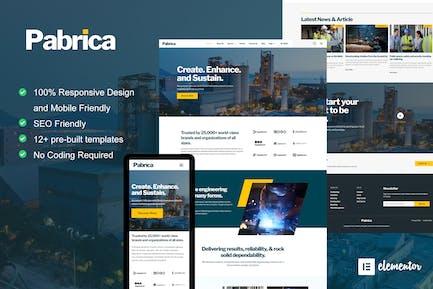 Pabrica - Ingenieur- und Industriedienstleistungen Elementor Template Kit