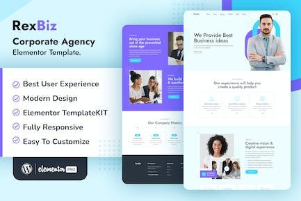 Rexbiz – Corporate Agency Elementor Template Kit
