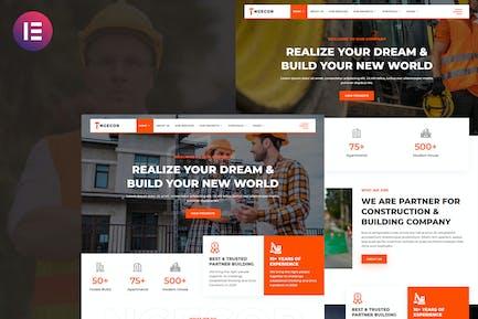 Ngecor - Bau- und Bauunternehmen Elementor Template Kit