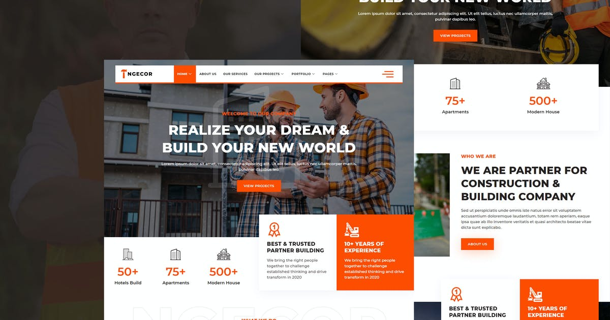 Download Ngecor - Construction & Building Company Elementor Template Kit by sigitdwipa