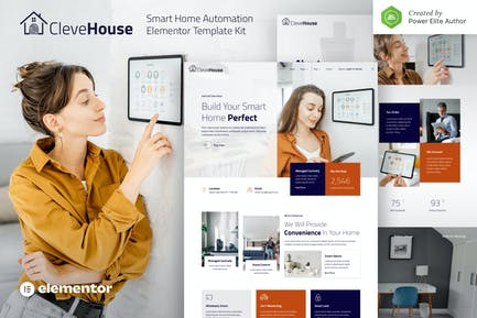 Clevehouse — Smart Home Automation Elementor Template Kit