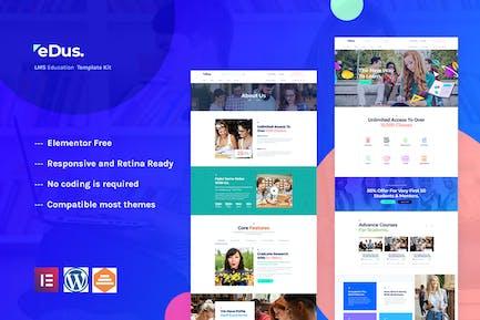 Edus - Online-Bildung Elementor Template Kit